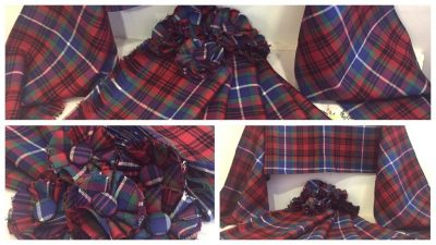 Malawi tartan scarves made by ReTweed